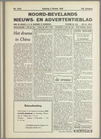 Noord-Bevelands Nieuws- en advertentieblad 1949-10-08