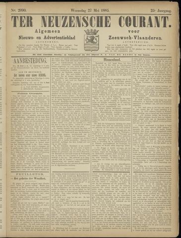 Ter Neuzensche Courant. Algemeen Nieuws- en Advertentieblad voor Zeeuwsch-Vlaanderen / Neuzensche Courant ... (idem) / (Algemeen) nieuws en advertentieblad voor Zeeuwsch-Vlaanderen 1885-05-27