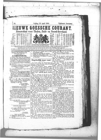 Nieuwe Goessche Courant 1880-04-30