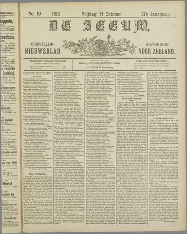 De Zeeuw. Christelijk-historisch nieuwsblad voor Zeeland 1912-10-11