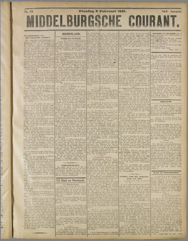 Middelburgsche Courant 1921-02-08