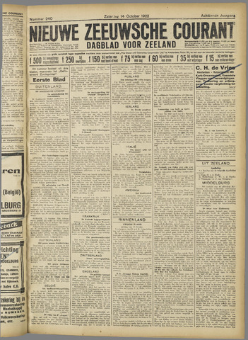 Nieuwe Zeeuwsche Courant 1922-10-14