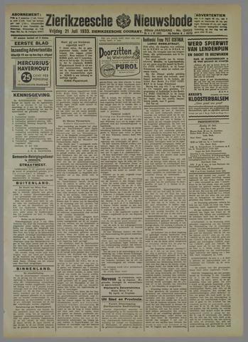 Zierikzeesche Nieuwsbode 1933-07-21