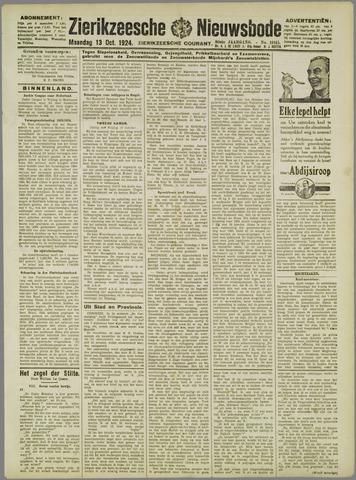 Zierikzeesche Nieuwsbode 1924-10-13