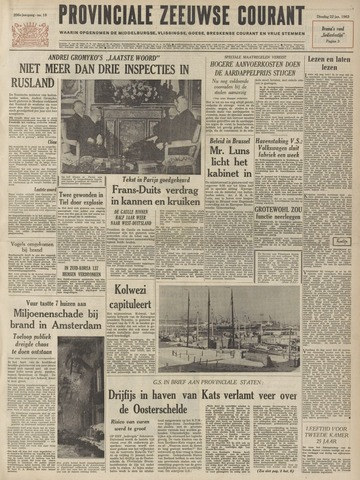 Provinciale Zeeuwse Courant 1963-01-22