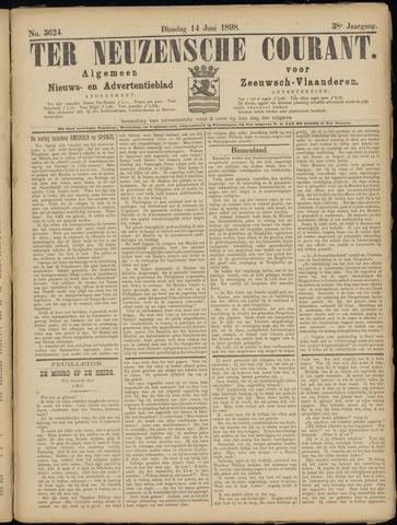 Ter Neuzensche Courant. Algemeen Nieuws- en Advertentieblad voor Zeeuwsch-Vlaanderen / Neuzensche Courant ... (idem) / (Algemeen) nieuws en advertentieblad voor Zeeuwsch-Vlaanderen 1898-06-14