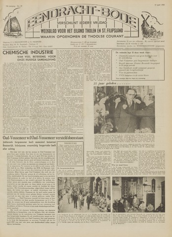 Eendrachtbode (1945-heden)/Mededeelingenblad voor het eiland Tholen (1944/45) 1959-04-10