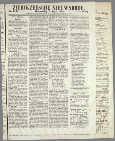 Zierikzeesche Nieuwsbode 1881-04-07