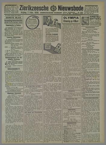 Zierikzeesche Nieuwsbode 1930-02-07