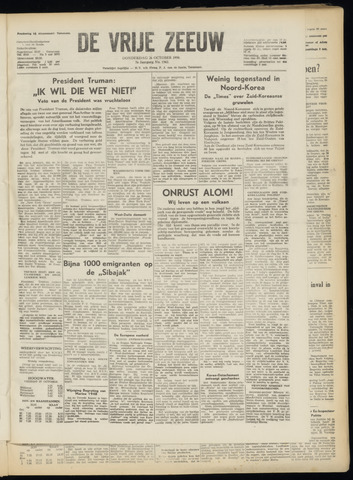 de Vrije Zeeuw 1950-10-26