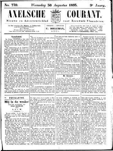 Axelsche Courant 1893-08-30