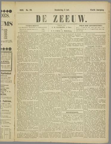 De Zeeuw. Christelijk-historisch nieuwsblad voor Zeeland 1890-07-03