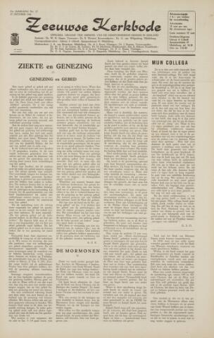 Zeeuwsche kerkbode, weekblad gewijd aan de belangen der gereformeerde kerken/ Zeeuwsch kerkblad 1966-10-21