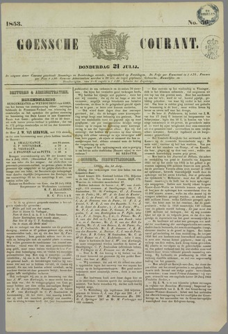 Goessche Courant 1853-07-21