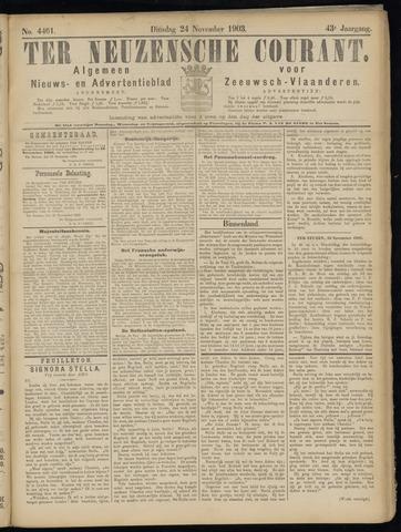 Ter Neuzensche Courant. Algemeen Nieuws- en Advertentieblad voor Zeeuwsch-Vlaanderen / Neuzensche Courant ... (idem) / (Algemeen) nieuws en advertentieblad voor Zeeuwsch-Vlaanderen 1903-11-24