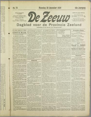 De Zeeuw. Christelijk-historisch nieuwsblad voor Zeeland 1929-12-30