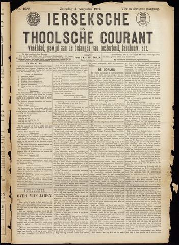 Ierseksche en Thoolsche Courant 1917-08-04