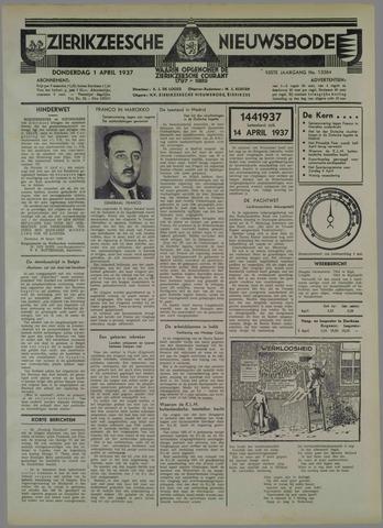 Zierikzeesche Nieuwsbode 1937-04-01