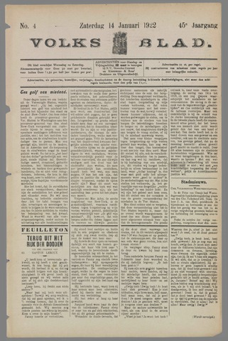 Volksblad 1922-01-14
