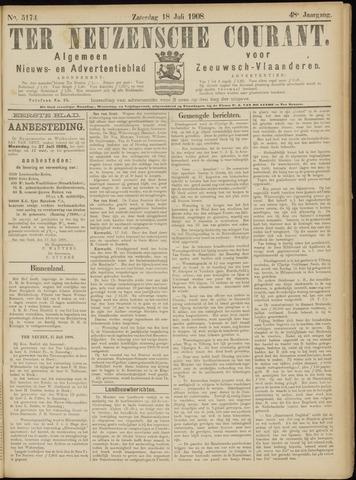Ter Neuzensche Courant. Algemeen Nieuws- en Advertentieblad voor Zeeuwsch-Vlaanderen / Neuzensche Courant ... (idem) / (Algemeen) nieuws en advertentieblad voor Zeeuwsch-Vlaanderen 1908-07-18
