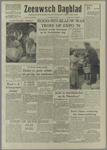 Zeeuwsch Dagblad 1958-08-21