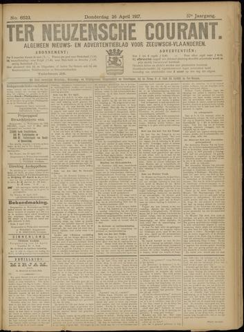 Ter Neuzensche Courant. Algemeen Nieuws- en Advertentieblad voor Zeeuwsch-Vlaanderen / Neuzensche Courant ... (idem) / (Algemeen) nieuws en advertentieblad voor Zeeuwsch-Vlaanderen 1917-04-26