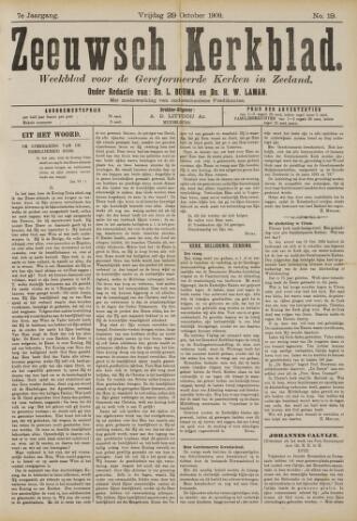 Zeeuwsche kerkbode, weekblad gewijd aan de belangen der gereformeerde kerken/ Zeeuwsch kerkblad 1909-10-29