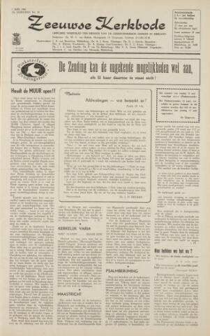 Zeeuwsche kerkbode, weekblad gewijd aan de belangen der gereformeerde kerken/ Zeeuwsch kerkblad 1962-06-01