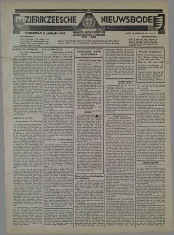 Zierikzeesche Nieuwsbode 1942-01-08