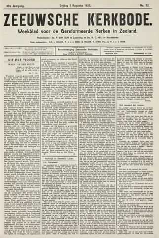 Zeeuwsche kerkbode, weekblad gewijd aan de belangen der gereformeerde kerken/ Zeeuwsch kerkblad 1925-08-07