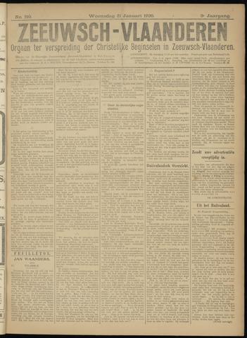 Luctor et Emergo. Antirevolutionair nieuws- en advertentieblad voor Zeeland / Zeeuwsch-Vlaanderen. Orgaan ter verspreiding van de christelijke beginselen in Zeeuwsch-Vlaanderen 1920-01-21