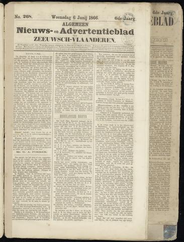 Ter Neuzensche Courant. Algemeen Nieuws- en Advertentieblad voor Zeeuwsch-Vlaanderen / Neuzensche Courant ... (idem) / (Algemeen) nieuws en advertentieblad voor Zeeuwsch-Vlaanderen 1866-06-06