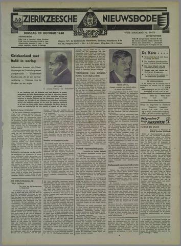 Zierikzeesche Nieuwsbode 1940-10-29