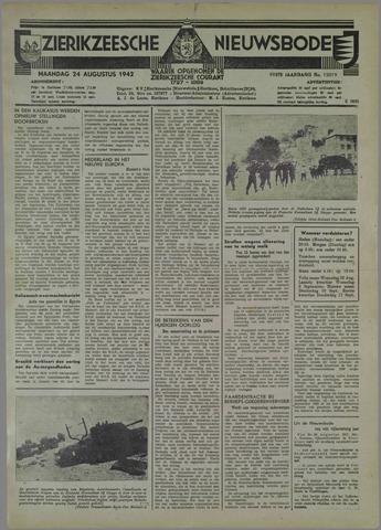 Zierikzeesche Nieuwsbode 1942-08-24