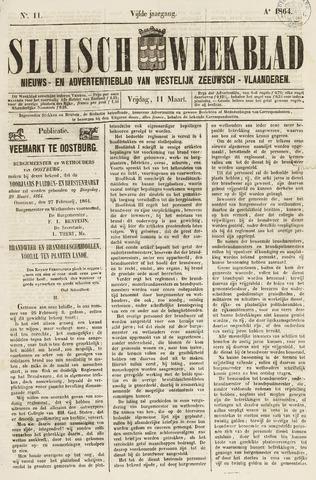 Sluisch Weekblad. Nieuws- en advertentieblad voor Westelijk Zeeuwsch-Vlaanderen 1864-03-11
