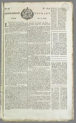 Zierikzeesche Courant 1814-06-10