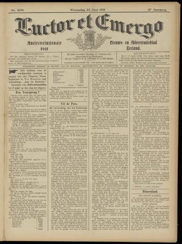 Luctor et Emergo. Antirevolutionair nieuws- en advertentieblad voor Zeeland / Zeeuwsch-Vlaanderen. Orgaan ter verspreiding van de christelijke beginselen in Zeeuwsch-Vlaanderen 1915-06-23