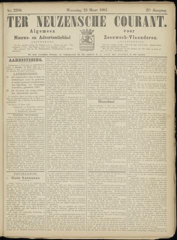 Ter Neuzensche Courant. Algemeen Nieuws- en Advertentieblad voor Zeeuwsch-Vlaanderen / Neuzensche Courant ... (idem) / (Algemeen) nieuws en advertentieblad voor Zeeuwsch-Vlaanderen 1887-03-23