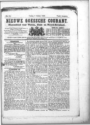 Nieuwe Goessche Courant 1869-10-01
