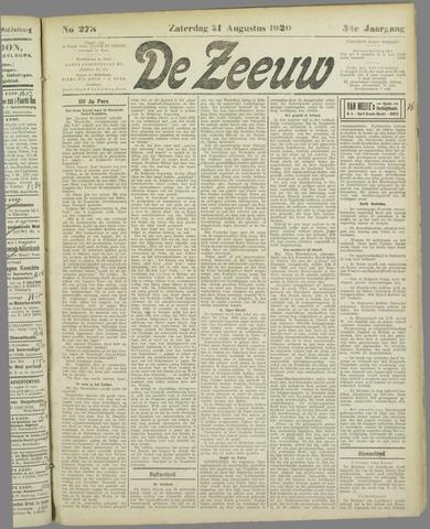 De Zeeuw. Christelijk-historisch nieuwsblad voor Zeeland 1920-08-21