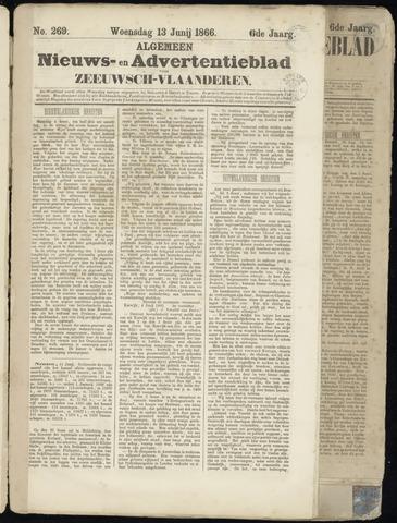 Ter Neuzensche Courant. Algemeen Nieuws- en Advertentieblad voor Zeeuwsch-Vlaanderen / Neuzensche Courant ... (idem) / (Algemeen) nieuws en advertentieblad voor Zeeuwsch-Vlaanderen 1866-06-13