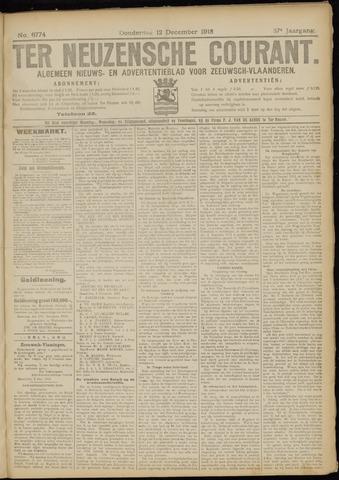 Ter Neuzensche Courant. Algemeen Nieuws- en Advertentieblad voor Zeeuwsch-Vlaanderen / Neuzensche Courant ... (idem) / (Algemeen) nieuws en advertentieblad voor Zeeuwsch-Vlaanderen 1918-12-12