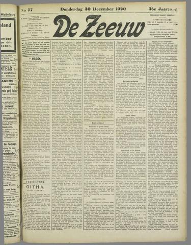 De Zeeuw. Christelijk-historisch nieuwsblad voor Zeeland 1920-12-30