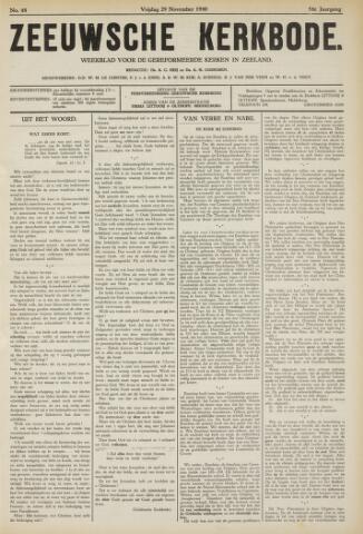 Zeeuwsche kerkbode, weekblad gewijd aan de belangen der gereformeerde kerken/ Zeeuwsch kerkblad 1940-11-29