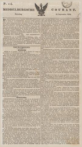 Middelburgsche Courant 1832-09-22