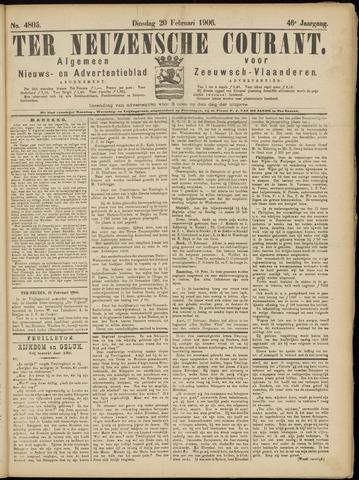 Ter Neuzensche Courant. Algemeen Nieuws- en Advertentieblad voor Zeeuwsch-Vlaanderen / Neuzensche Courant ... (idem) / (Algemeen) nieuws en advertentieblad voor Zeeuwsch-Vlaanderen 1906-02-20