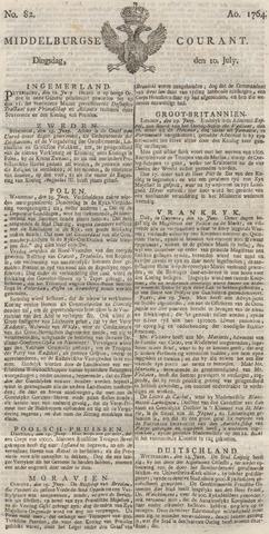 Middelburgsche Courant 1764-07-10