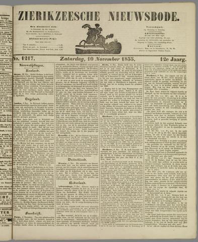 Zierikzeesche Nieuwsbode 1855-11-10