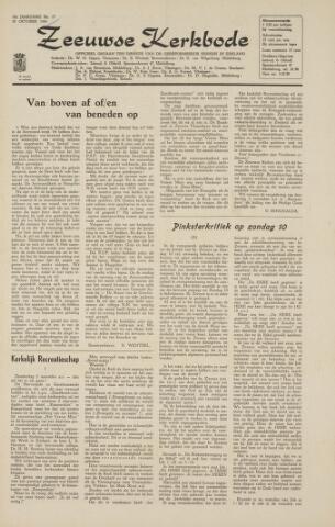 Zeeuwsche kerkbode, weekblad gewijd aan de belangen der gereformeerde kerken/ Zeeuwsch kerkblad 1964-10-30