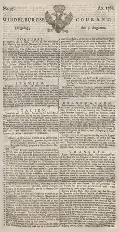 Middelburgsche Courant 1768-08-09